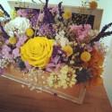 Caja libro de flores presevadas