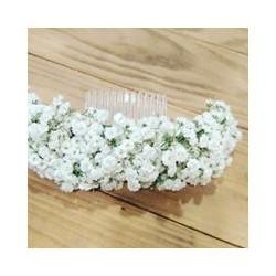 Peineta o corona de paniculata blanca