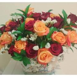 Arreglo de 50 rosas naturales